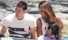 Lionel Messi enjoying a family holiday