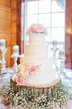 Great Nature Wedding ideas. The cake is gorgeous in its simplicity | Cherokee National Forest | JOPHOTO photography