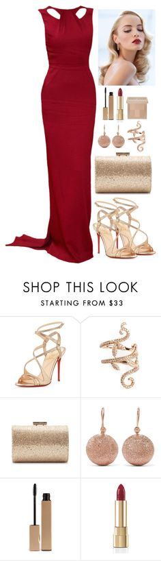 """Untitled #3890"" by natalyasidunova ❤ liked on Polyvore featuring Christian Louboutin, Retrò, Elise Dray, Jimmy Choo, Carolina Bucci, Clarins, Dolce&Gabbana and Bobbi Brown Cosmetics"