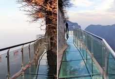 Divulgação - glass walkway in Tianmen Park in China