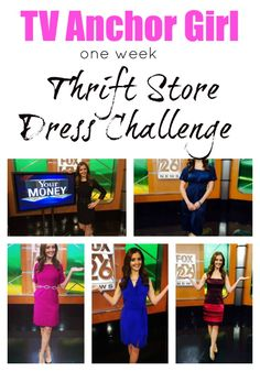 This FOX TV Anchor girl did a week long thrift store shop challenge of $2 dresses for a total of a $10 budget ... FABULOUS!!!!!!!!!!!  Extreme Savings!