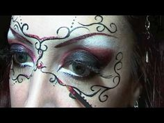 red carnival mask tutorial - love this for the next masquerade party...would also be great in greens for fairy costume
