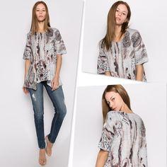55a7723e7c6 #Et'lois USA #Artsy Women's Fashion & Style #Lagenlook #Animal Print Tunic