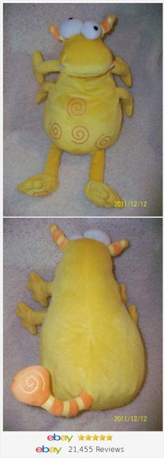 "Koala Baby Yellow Plush 15"" googly Eyes Monster Plush Stuffed Animal Toy"