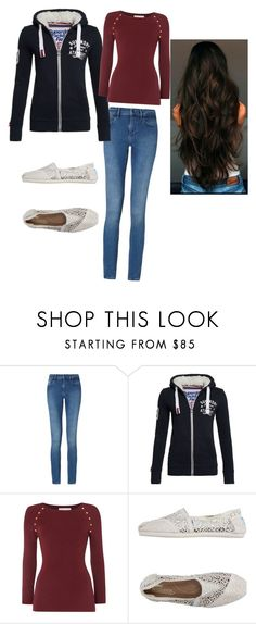 """""""Day of Ball"""" by mallory2k12 ❤ liked on Polyvore featuring Calvin Klein, Superdry, Michael Kors and TOMS"""