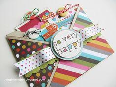 Scor-pal: Double pocket criss-cross card by Virginia Nebel