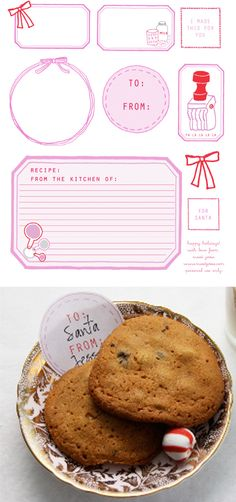 Free Printable: Holiday Tags by Sweet Jessie - Home - Creature Comforts - daily inspiration, style, diy projects + freebies