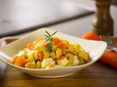 Receta de  Pechuga de Pollo con Zanahoria y Queso  al Romero