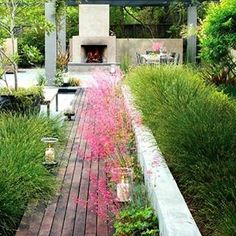 """""""A sea of pink leads to you a tranquil and cozy area in the garden. Not just any ordinary outdoor…"""""""