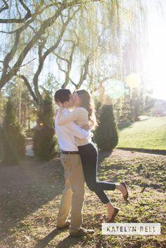Rexburg Idaho Photographer - Engagement Session - BYU-I Gardens - Katelyn Bell Photography #engagements #rexburg #idaho #rexburgphotographer #engagementposes #byui #byuigardens