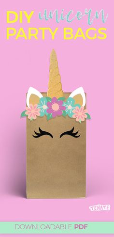 New diy gifts box unicorn Ideas Diy Party Bags, Party Gifts, Party Favors, Shower Favors, Shower Invitations, Wedding Favors, Diy Wedding, Unicorn Party Bags, Unicorn Birthday Parties