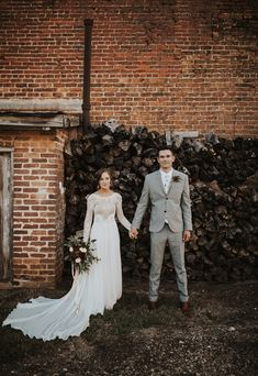 Rustic and modern minimalist come together at this lovely industrial wedding   Image by Wild Heart Visuals