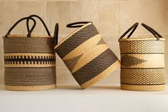 Laundry basket from Ghana - Laundry basket - AS'ART A SENSE OF CRAFTS | MOM Ghana, Interior Accessories, Decorative Objects, Straw Bag, Reusable Tote Bags, Mom, Crafts, Laundry Baskets, Interiors