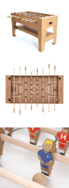 Cardboard Foosball - Just thought it was cool, but I rather keep mine can not set a drink down on this one.