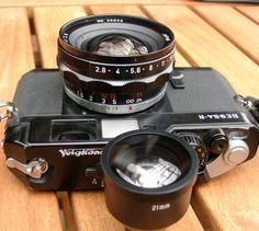 Black Kobalux on a Voigtlander Bessa-R Rangefinder Camera, Remote Sensing, Camera Obscura, Leica, Binoculars, Photograph, Film, Friends, Awesome