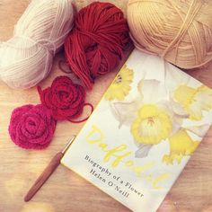 Season of mists daffodils and roses - a perfect afternoon. #autumn #crochet #crochetaddict #crochetconcupiscence #daffodils #crochetroses by lyndapc