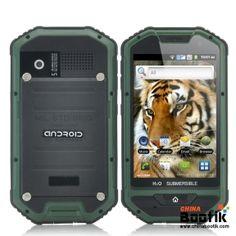 "Rugged 4 Inch Android Phone ""Mastodon II"" - 1GHz CPU, Dustproof, IP 53 Water Resistant, Shockproof (Green) #smartphone #androidphone #ruggedphone"