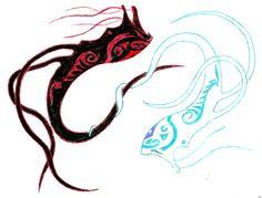 Raava and Vaatu Avatar Wan, Legend Of Korra, Avatar The Last Airbender, Nerd, Air Bender, Tattoo Ideas, The Legend Of Korra, Otaku, Geek