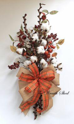 Fall Cotton Bouquet, Natural Cotton Bolls, Cotton Anniversary Gift, 2nd Anniversary Bouquet, Wedding Gifts, Cotton Arrangements, Cotton Boll