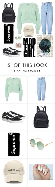 """""""Modern Girl"""" by chalotteleah on Polyvore featuring Topshop, Miss Selfridge, Balenciaga and modern"""