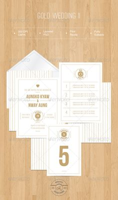 Gold Wedding II — Photoshop PSD #menu #gold • Available here → https://graphicriver.net/item/gold-wedding-ii/5419798?ref=pxcr