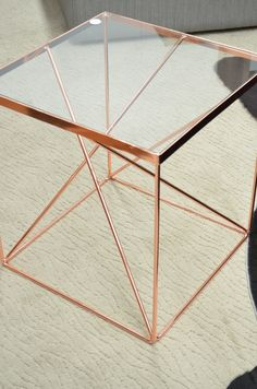 copper cubism... side table from The General Store, Osborne Park
