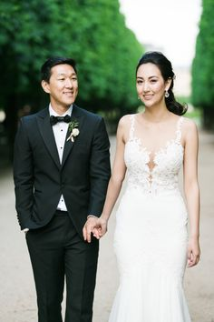 This white wedding gown is everything! http://www.stylemepretty.com/destination-weddings/france-weddings/2016/08/20/elegant-and-romantic-paris-wedding/ Photography: Catherine O'Hara - http://www.catherineohara.com/#about
