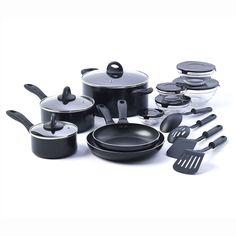 17 Piece Non-Stick Kitchen Starter Cookware Set