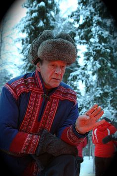 Old Lapland guy in his traditional dress. Finland