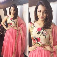 The ball of Positivity and prettiness in Pink today for the promotions of #kodi Actress Trisha Krishnan in one of my Favourite labels ~ @anithareddy.j ~ thank u for going that extra mile and making sure u ship it even on a Sunday , you are the most efficient and professional designer friend I have !