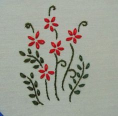 My craft works: Lazy Daisy stitch sample