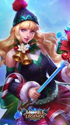 Mobile Legend Wallpaper, Hero Wallpaper, Beautiful Fantasy Art, Beautiful Anime Girl, Mobiles, Miya Mobile Legends, Chibi, Moba Legends, Alucard Mobile Legends