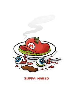 Pizzeria Disgusto | Design made in Austria – Pizza – Illustration – Zuppa Mario – Super Maria