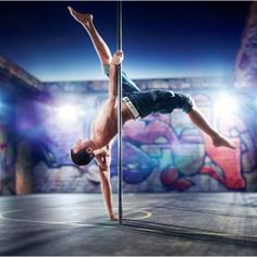 For everyone who thought pole dancing was just for girls, think again. Pole fitness dancing has become a coed sport. Men's pole dancing is for exercise, for Pole Dance Fitness, Barre Fitness, Kettlebell Abs, Kettlebell Training, Ab Workout Men, Best Ab Workout, Workout Plans, Trx Core Exercises, Fitness Exercises