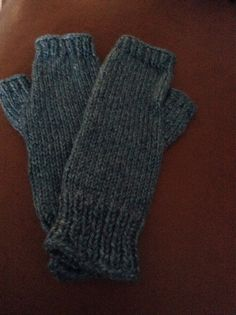 Hand knitted fingerless texting mittens on Etsy, $25.00