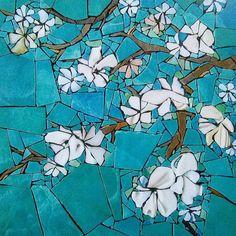 Photos and Videos - Michele Neil Photos and Videos Hommage à Van Gogh Gogh Mosaic Birdbath, Mosaic Garden Art, Mosaic Artwork, Mosaic Glass, Mosaic Tray, Mosaic Mirrors, Mosaic Crafts, Mosaic Projects, Broken China