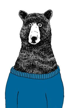 Illustration of a Bear in a jumper by James Moffitt