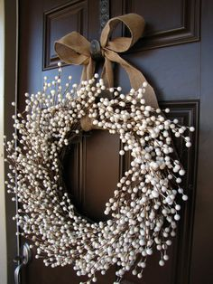 January Snowfall Winter White Berry Wreath by TheWrightWreath