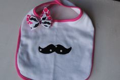 Girl+Hipster+Applique+Mustache+Bib+by+CocoandGigisBoutique+on+Etsy,+$8.00