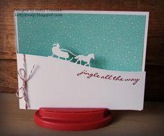 Sleigh Ride Cut Away Card