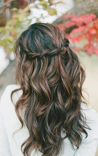 brunette highlights - this is so much prettier than the weird bronze my hair gets.