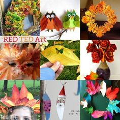 20 Wonderful Leaf Crafts for Autumn - so many beautiful ideas here. Perfect for celebrating autumn or incorporating into your Thanksgiving decor and activities
