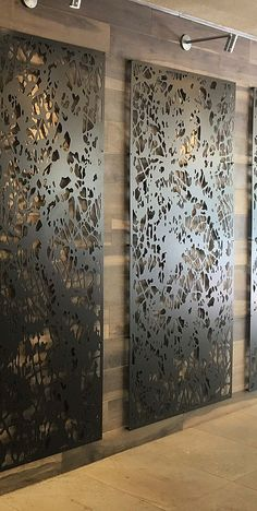 Moss and Oak restaurant - Savannah. Grill Design, Spa Design, Loft Design, House Design, Laser Cut Screens, Laser Cut Panels, Laser Cut Metal, Decorative Metal Screen, Decorative Panels