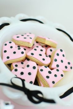 Cute HEART COOKIES from this Sweet and Chic Bow Themed Valentine's Day Party with Lots of Cute Ideas via Kara's Party Ideas KarasPartyIdeas.com #pinkbowparty #valentines...