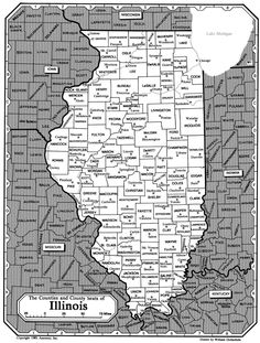 All about genealogy and family history - Map of Illinois - Ancestry.com