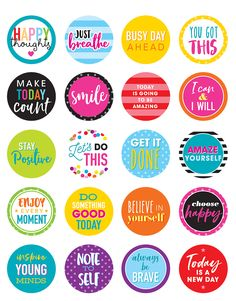 - Colorful Words to Inspire Planner Stickers, Make your notes and plans stand out by adding colorful planner stickers. These cheerful stickers will . Reward Stickers, Printable Planner Stickers, Printable Quotes, Printables, Kids Stickers, Scrapbook Stickers, Scrapbook Paper, Lesson Planner, Teacher Created Resources