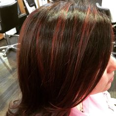 Marsala Balayage hilights by @JLuszczakStylist using L'Oreal Professionnel products and technique