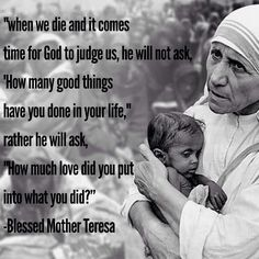 Essay on i want to be like mother teresa