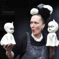 SURELY this @craftleeds pic of their exhibiting ceramicist @joleeworldofcuriosity deserves a caption competition? #leeds #leedslife #leedsart #leedscraft #leedsinspired #ceramics #captioncompetition #pin