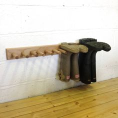 Home- Kitchen, Pantry, Laundry, Bathroom Oak Welly Rack pairs) Understanding Toxic Black Mold! Homemade Shoe Rack, Wooden Shoe Racks, Boot Rack, Boot Storage, Laundry Room Remodel, Womens Closet, Towel Rack Bathroom, A Frame Cabin, Decks And Porches